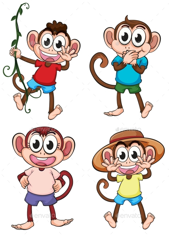 GraphicRiver Monkeys 9259636