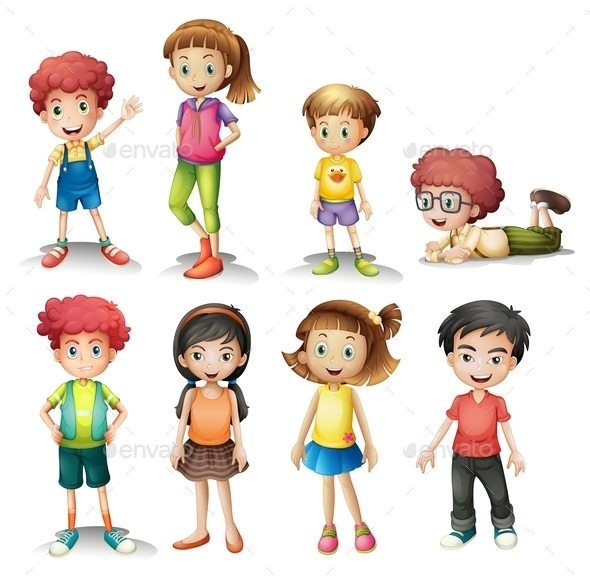 GraphicRiver Group of Kids 9259644