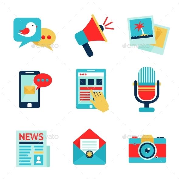 GraphicRiver Media Icon Set 9259672
