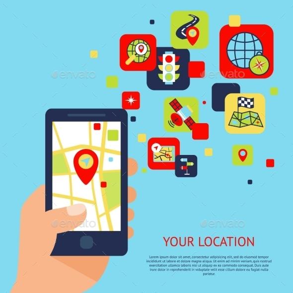 GraphicRiver Navigation Icons Concept 9259674
