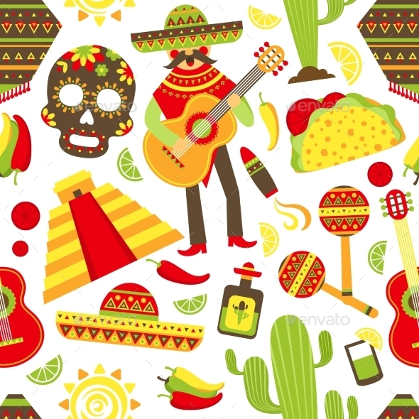 GraphicRiver Mexico Seamless Pattern 9259678