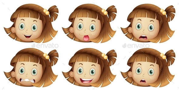 GraphicRiver Different Facial Expressions 9259681