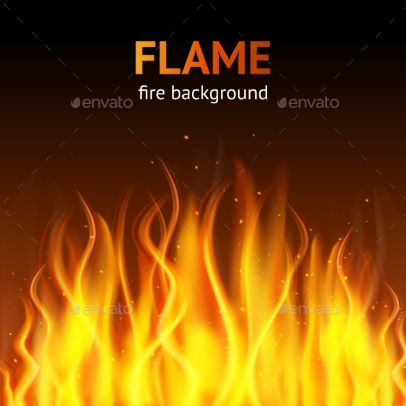 Flame Dark Background