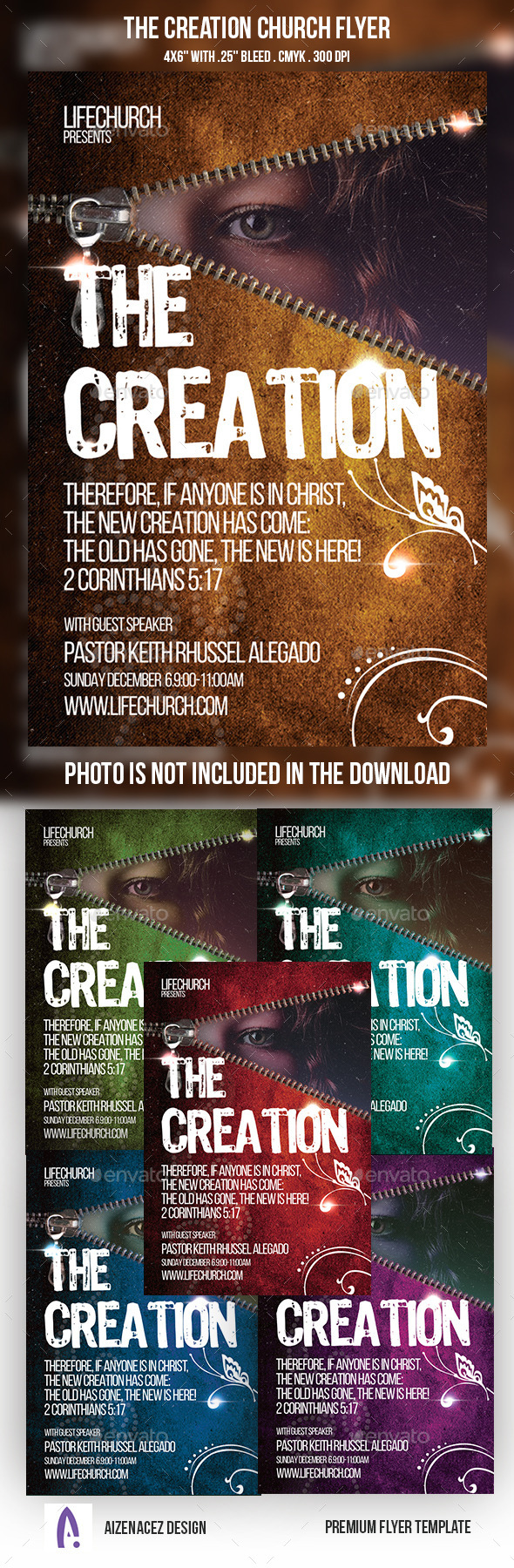 GraphicRiver The Creation Church Flyer 9210466