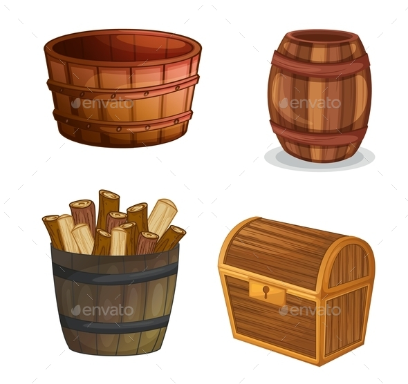 GraphicRiver Various Wooden Objects 9259702