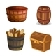 Various Wooden Objects - GraphicRiver Item for Sale