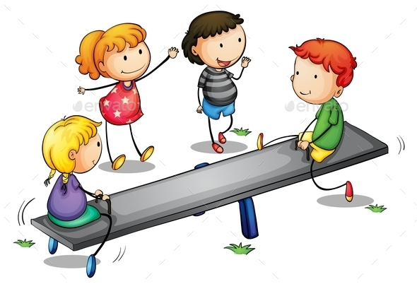 GraphicRiver Seesaw Kids 9259708