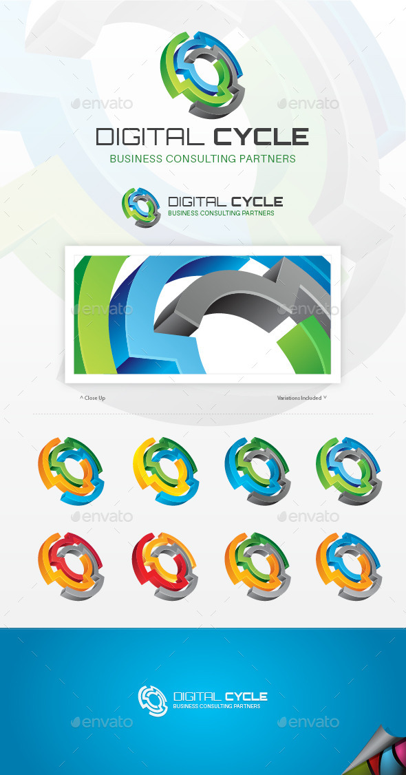 GraphicRiver Digital Cycle Logo 9259725
