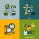 Logistic Flat Icons Composition - GraphicRiver Item for Sale