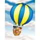 Kids Flying in Hot Air Balloon - GraphicRiver Item for Sale