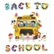 School Bus and English Word Back to School - GraphicRiver Item for Sale