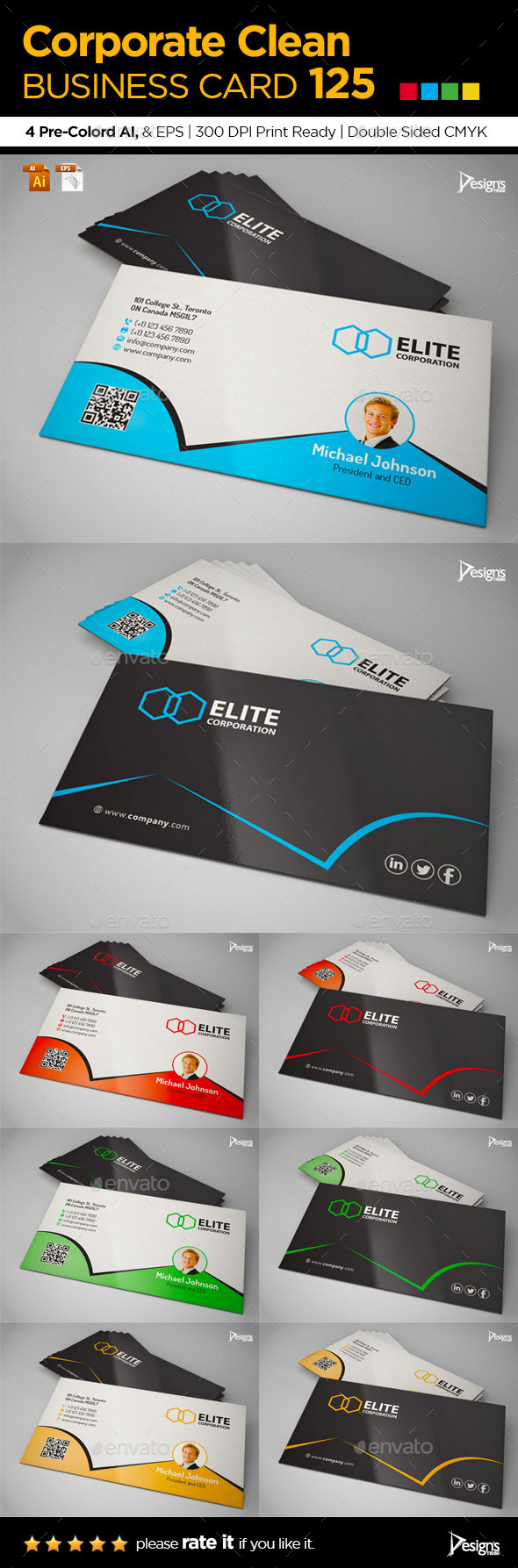 GraphicRiver Simple and Clean Business Card 125 9259757