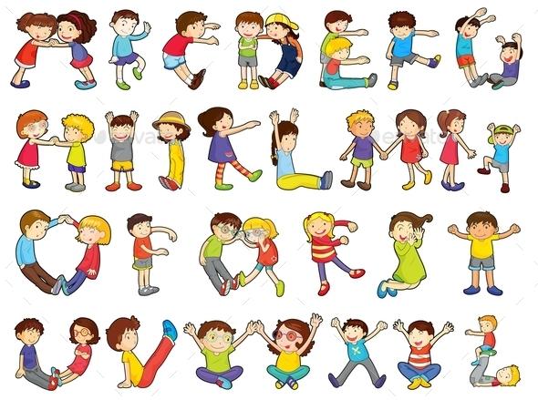 GraphicRiver Alphabets in Kids Activities 9259759