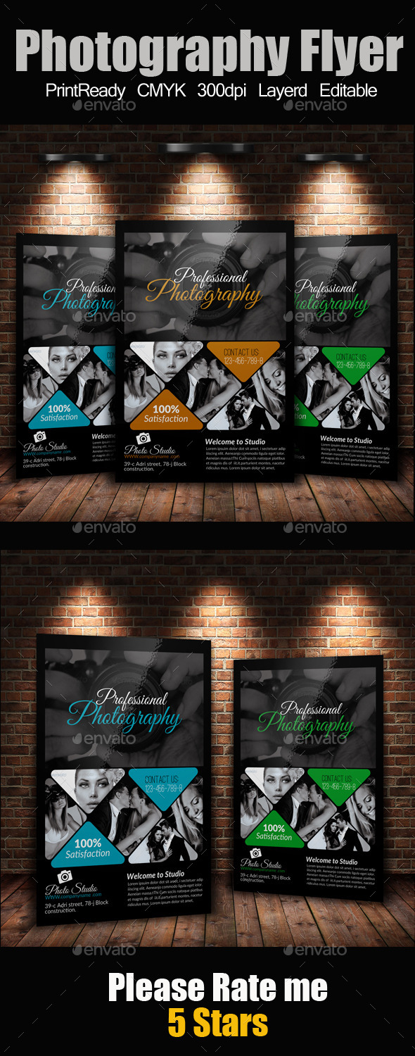 GraphicRiver A4 Photography Flyer 9259771