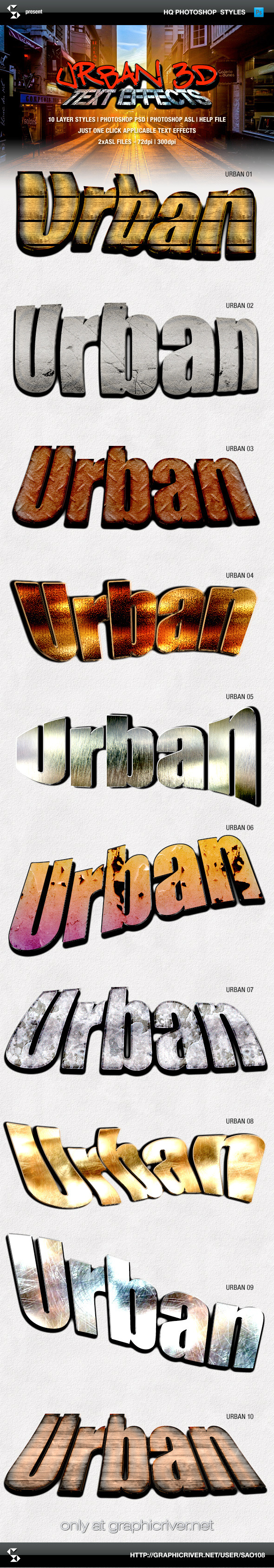 Urban Style 3D Text Effects