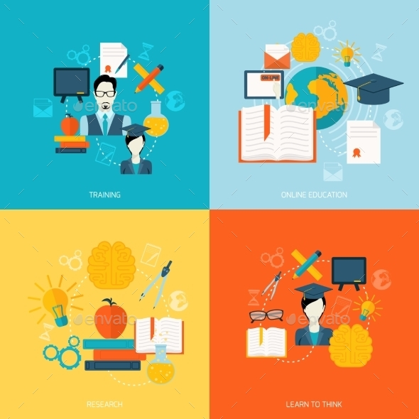 GraphicRiver Education Icons Flat 9259785