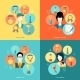 Trophy Icons Set Flat - GraphicRiver Item for Sale