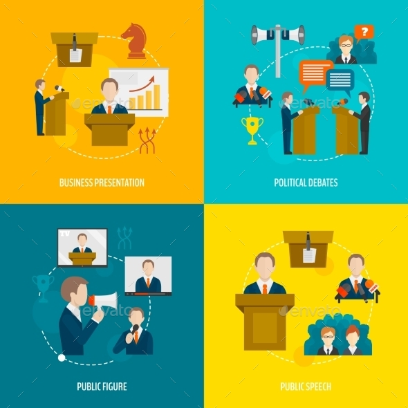 GraphicRiver Public Speaking Flat Set 9259799