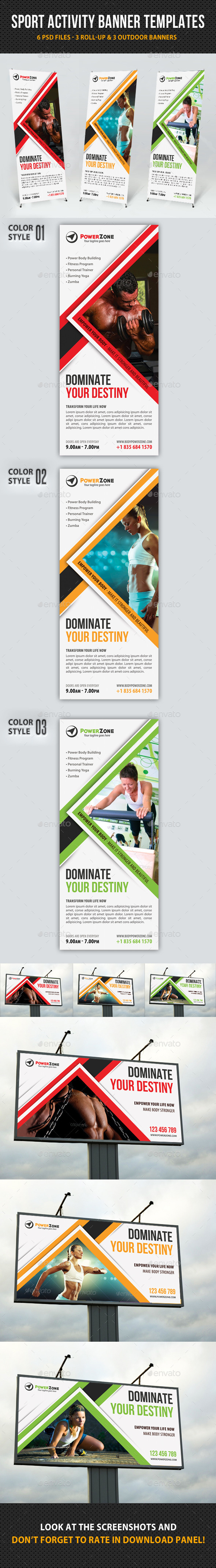 GraphicRiver Sport Activity Banner Templates 9259826