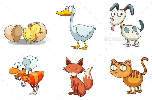 GraphicRiver Group of Animals 9259840