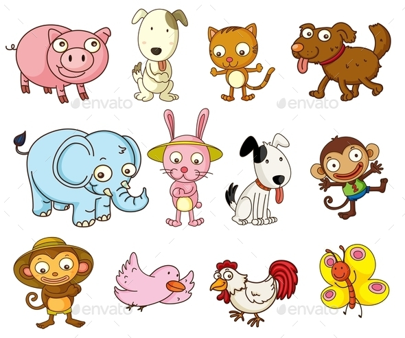 GraphicRiver Cartoon Animals 9259851