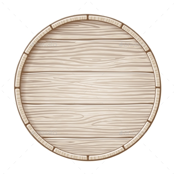 Vector Wooden Barrel