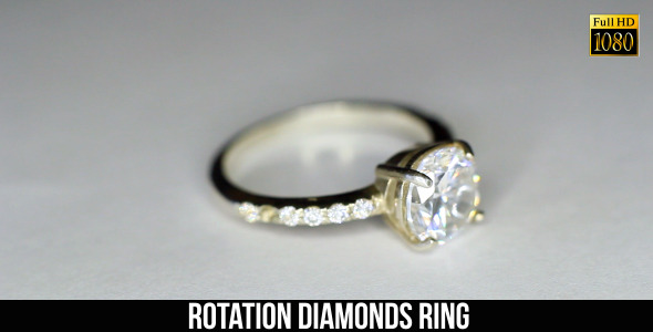 Rotation Diamonds Ring