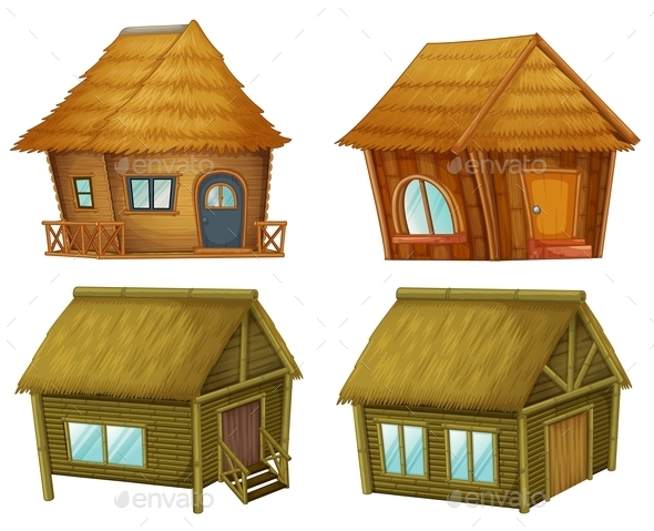 GraphicRiver Set of Cabins 9259946