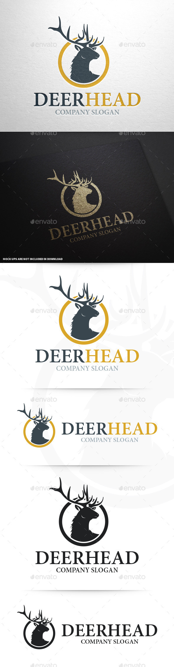 GraphicRiver Deer Head Logo Template 9259951