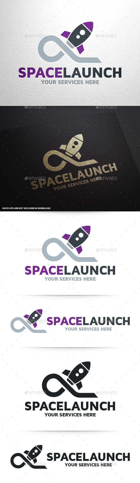 GraphicRiver Space Launch Logo Template 9260099