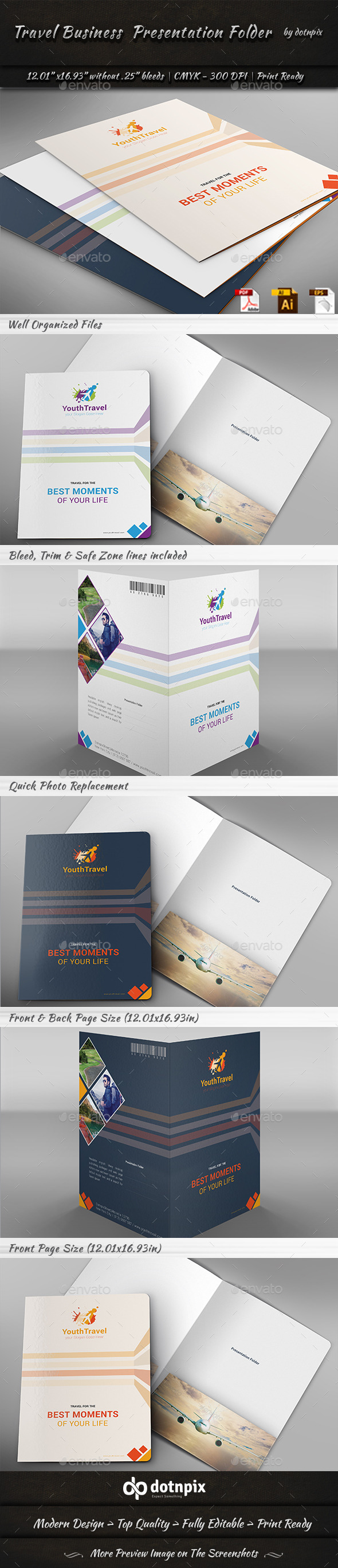 GraphicRiver Travel Business Presentation Folder 9260109