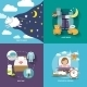 Sleep Time Icons Flat - GraphicRiver Item for Sale