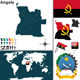 Map of Angola - GraphicRiver Item for Sale