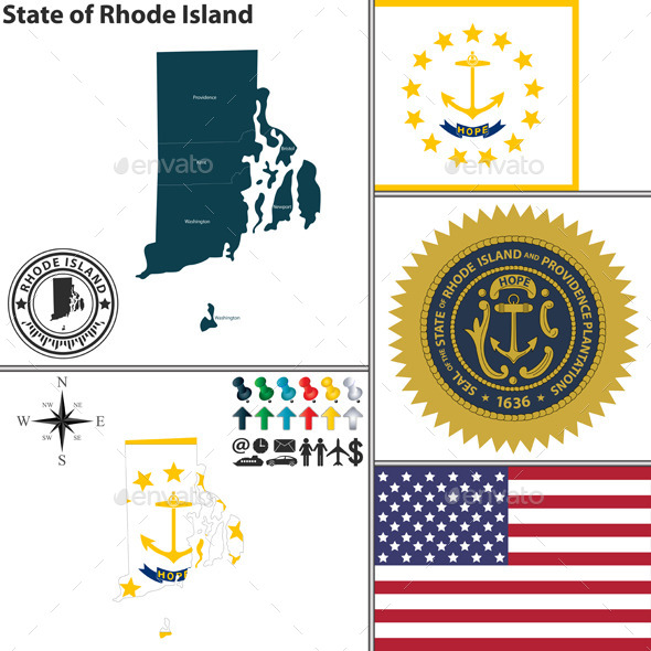 GraphicRiver Map of State Rhode Island USA 9260239