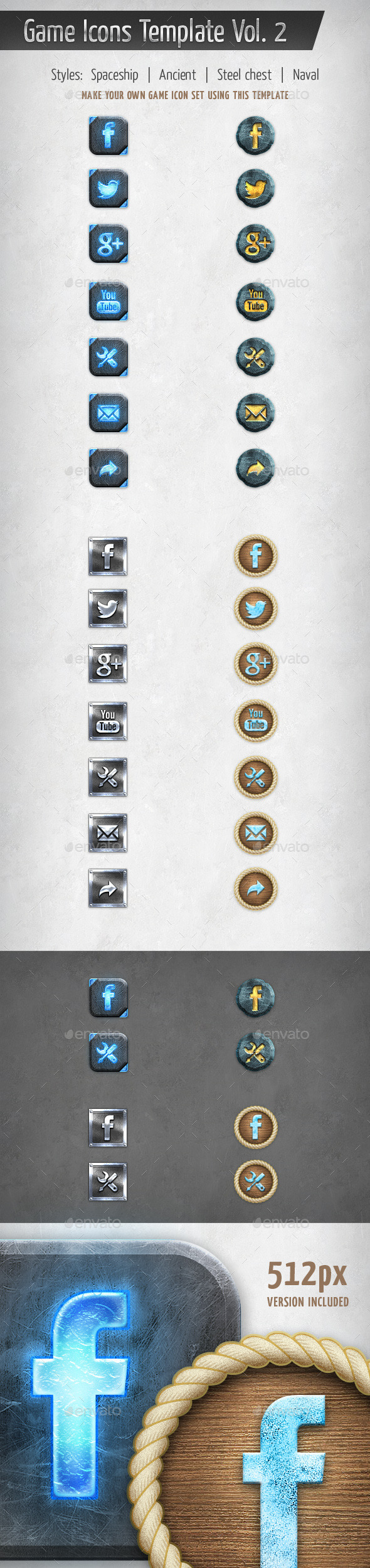 Game Icons Template Vol. 2 - Software Icons