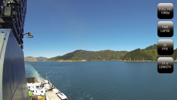 Entrance Fjords in New Zealand on Ferry to Picton