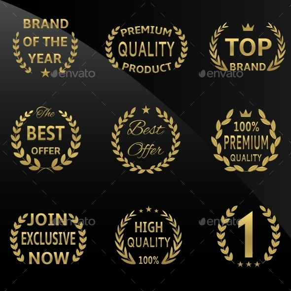 GraphicRiver Golden Badges 9260533