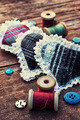 isalnita-heart with spools of thread and buttons - PhotoDune Item for Sale