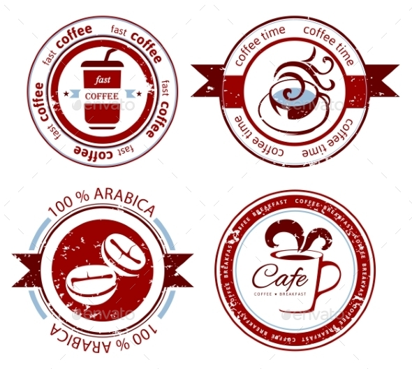 GraphicRiver Coffee Stamps 9260820