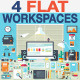 Flat Office Devices and Tools - GraphicRiver Item for Sale