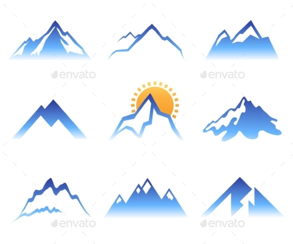 GraphicRiver Mountains Signs 9260974