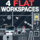 Space Lover Flat Workspace - GraphicRiver Item for Sale