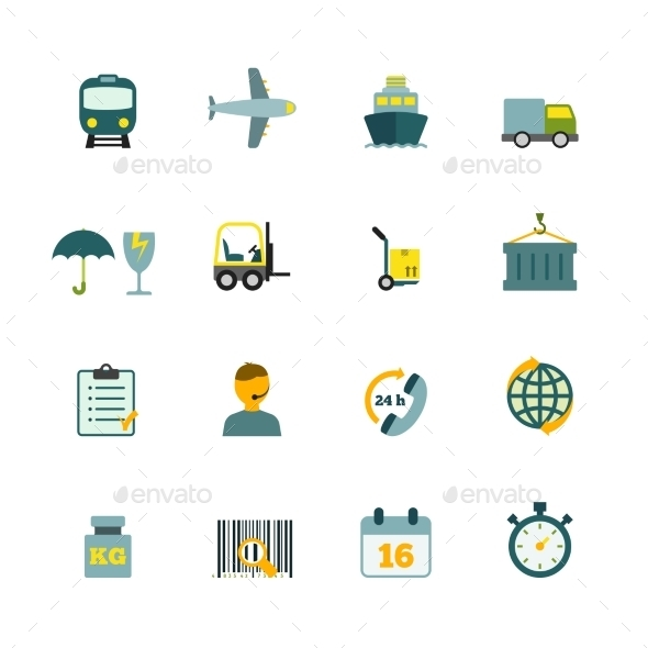 GraphicRiver Logistic Icons Set 9261424