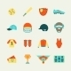 Baseball Icons Set Flat - GraphicRiver Item for Sale