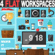 Flat Office Workplace - GraphicRiver Item for Sale
