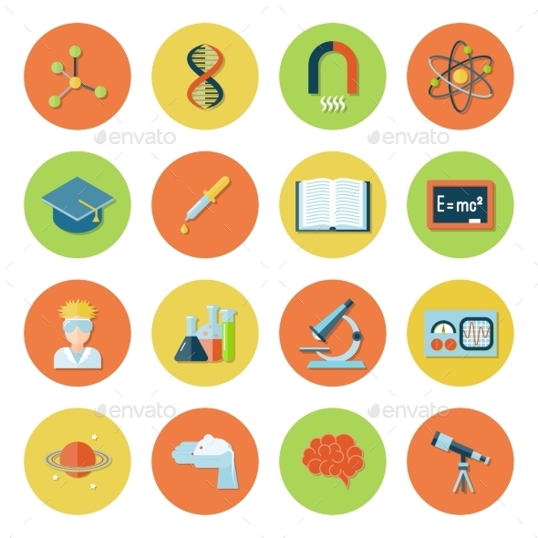 GraphicRiver Science and Research Icons 9261458