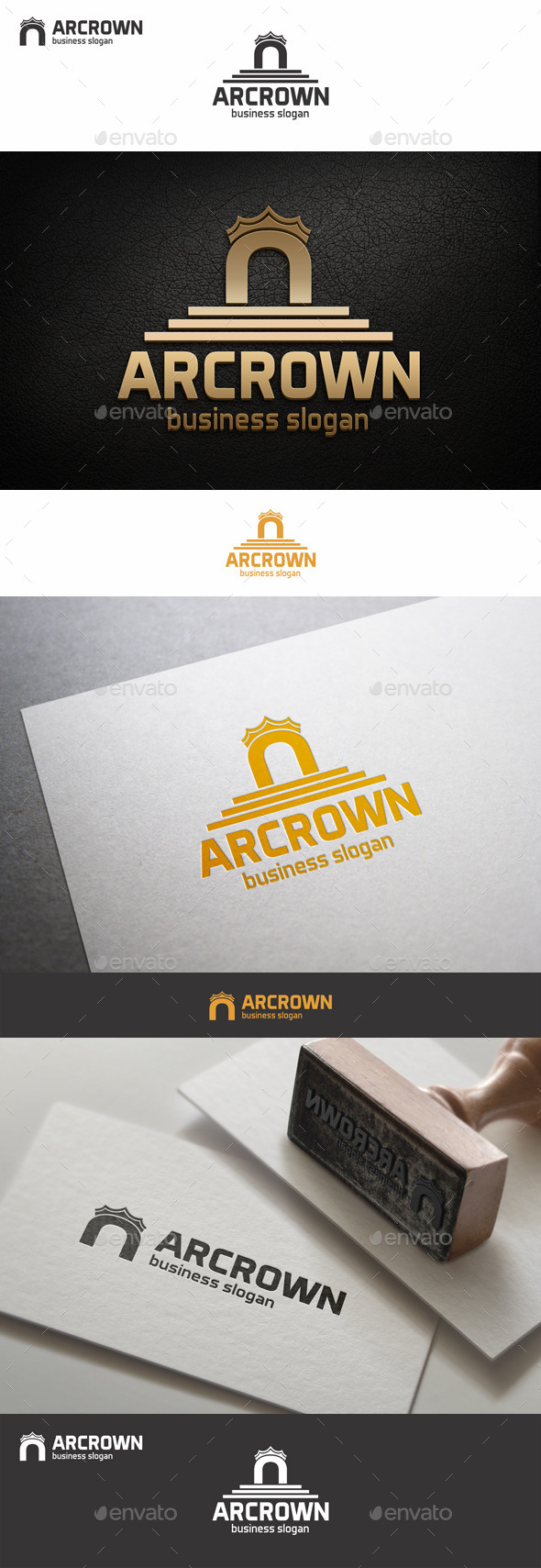 GraphicRiver Crown Arc Logo 9261460