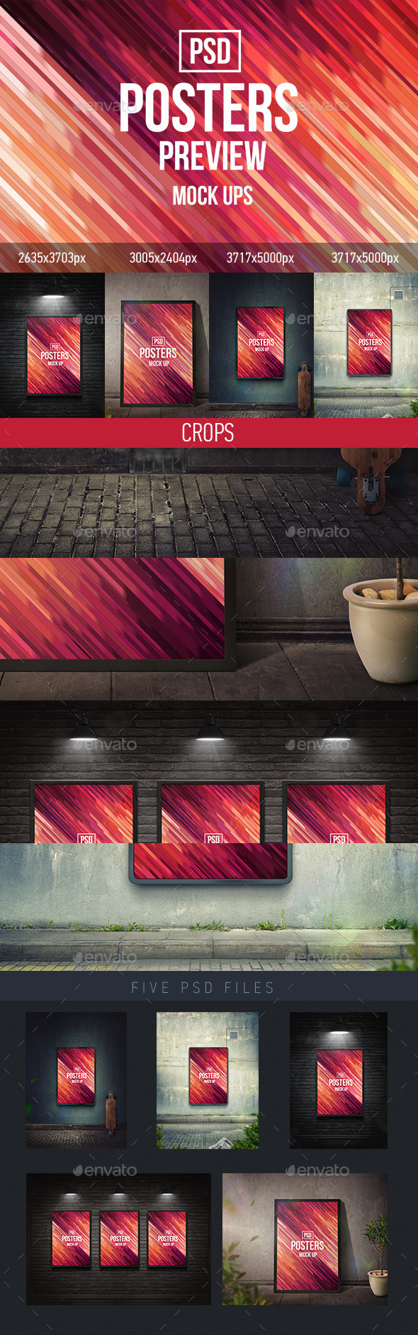 Posters Mock-Ups (PSD) - Product Mock-Ups Graphics