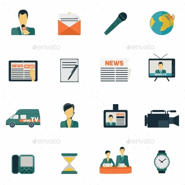 GraphicRiver News Icons 9261469
