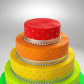 colorful wedding cake - PhotoDune Item for Sale